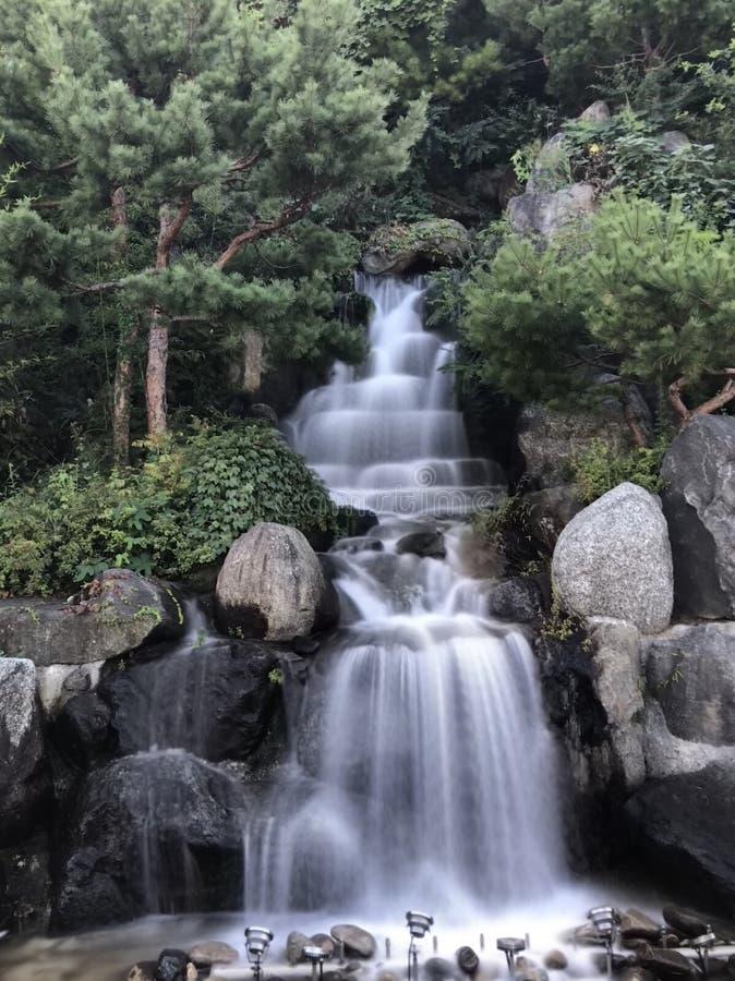 Cascata in Gangneung-si immagini stock libere da diritti