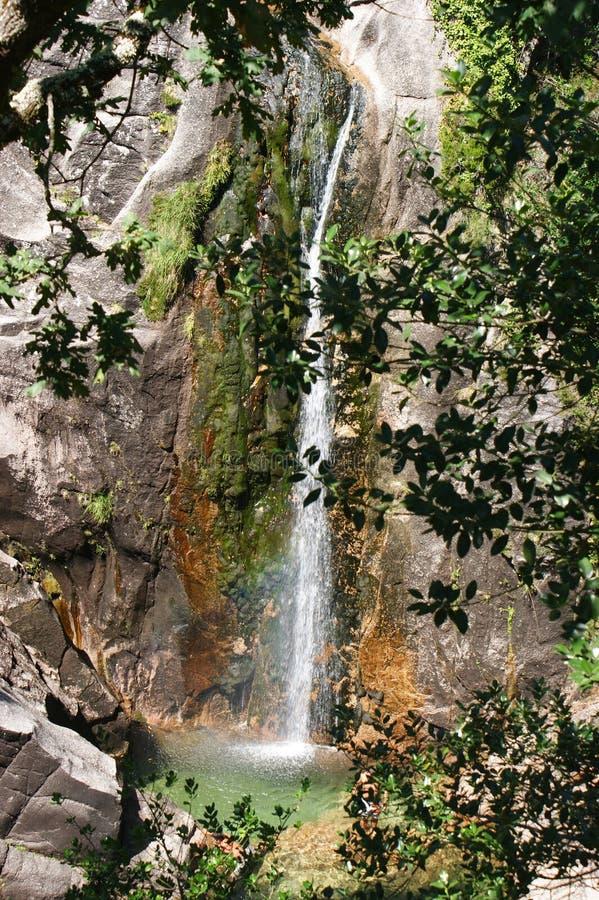 Cascata hace Arado en el parque nacional de Peneda Geres fotos de archivo libres de regalías