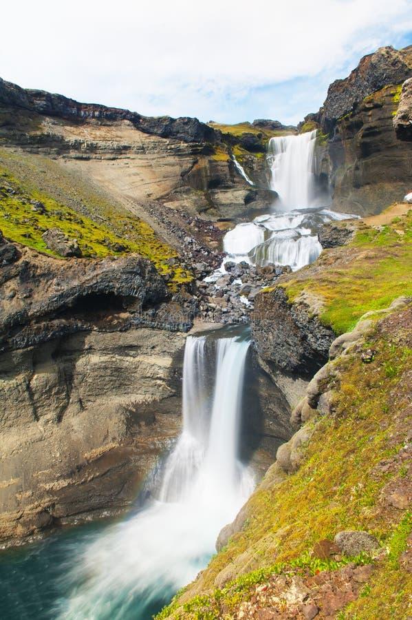 Cascata islandese fotografia stock