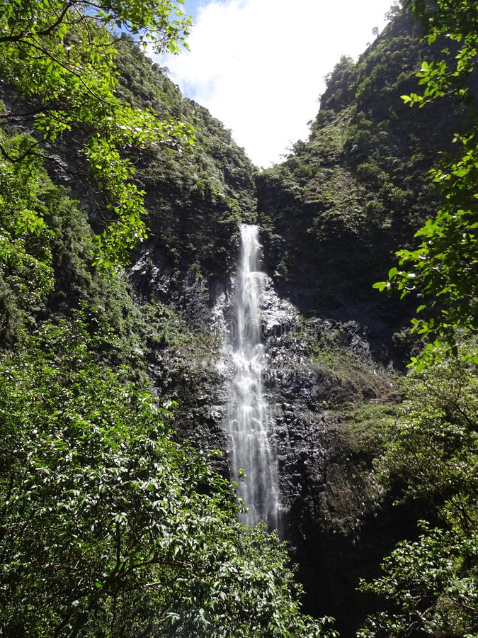 Cascata Kauai immagine stock libera da diritti