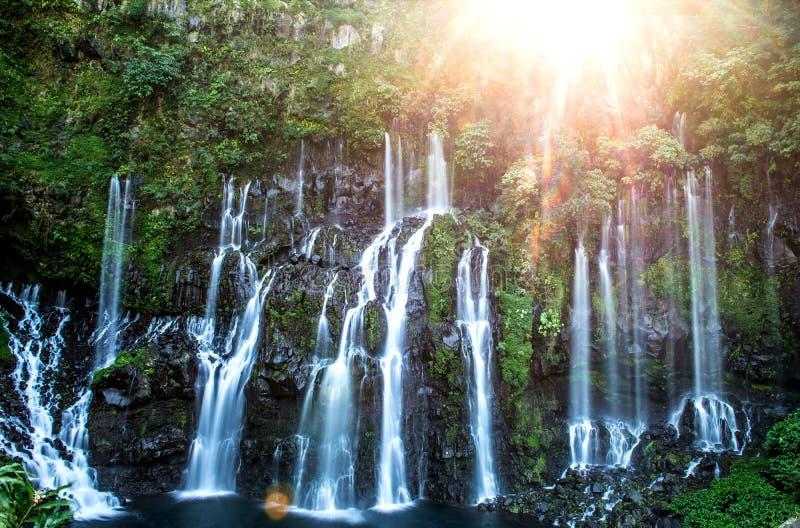 Cascata Langevin - Ile de la Réunion imagens de stock royalty free