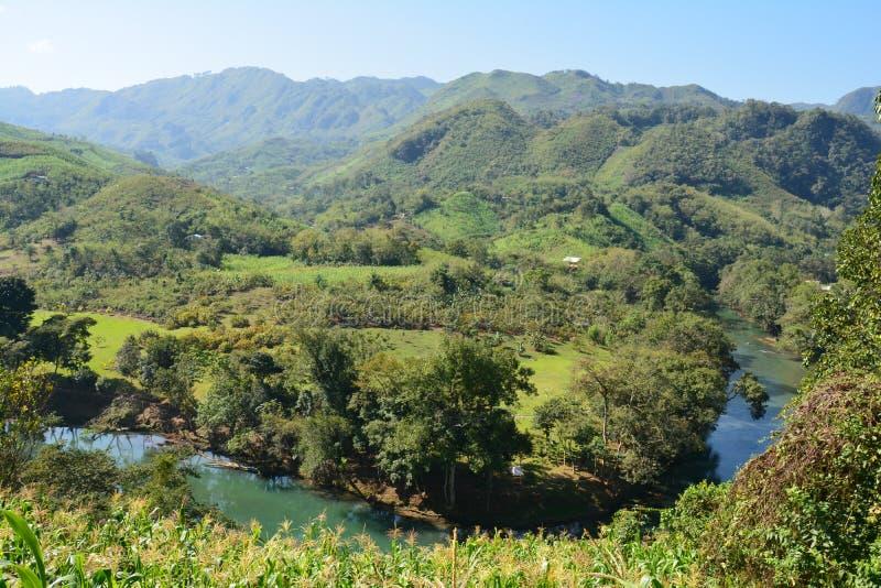 Cascata Lanquin Guatemala di Semuc Champey immagini stock