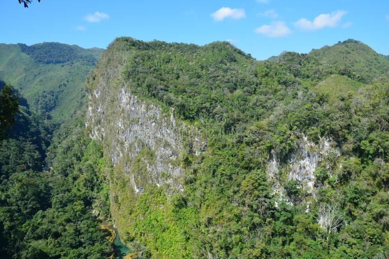 Cascata Lanquin Guatemala di Semuc Champey immagini stock libere da diritti
