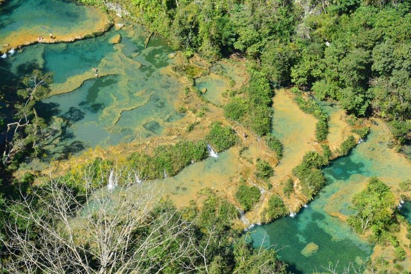 Cascata Lanquin Guatemala di Semuc Champey fotografie stock libere da diritti