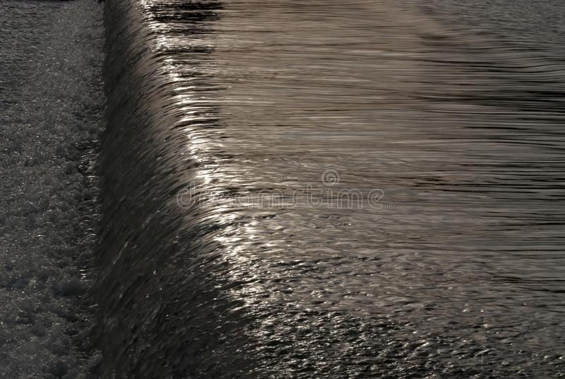 Cascata nel fiume di Guadalquivir immagine stock