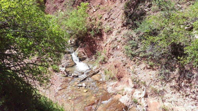 Cascata nell'insenatura di Kanarra immagini stock libere da diritti