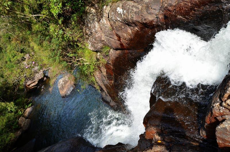 Cascata in pianura di Hortons del parco nazionale, lan di Srí immagini stock