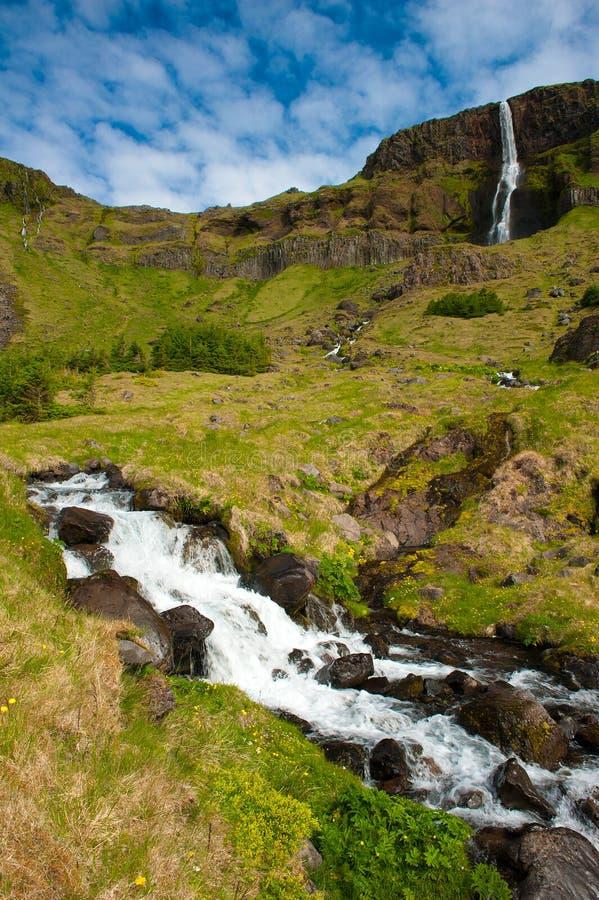 Cascata sull'Islanda fotografia stock libera da diritti
