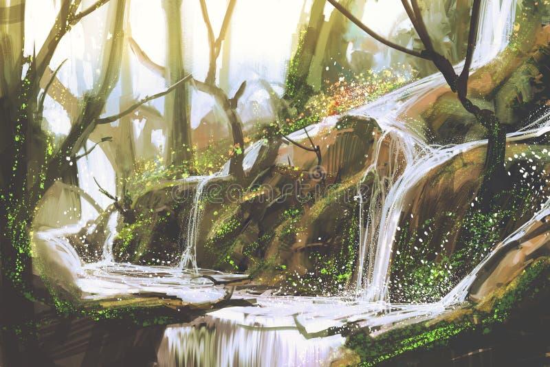 Cascata Sunlit illustrazione vettoriale