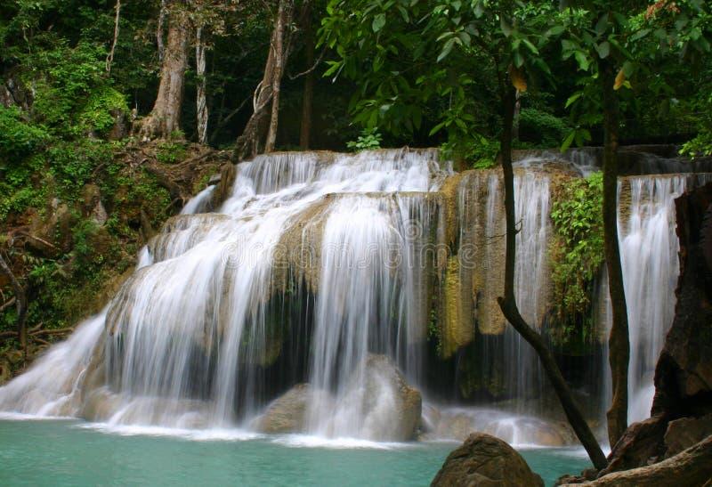 Cascata in Tailandia immagini stock