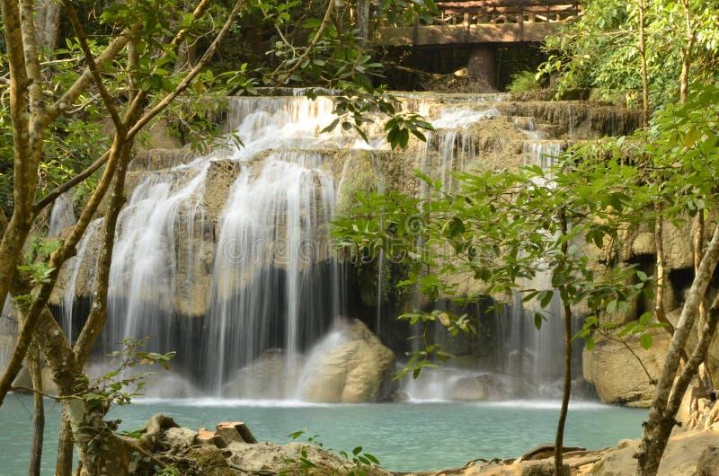 Cascata Tailandia di Erawan fotografia stock libera da diritti