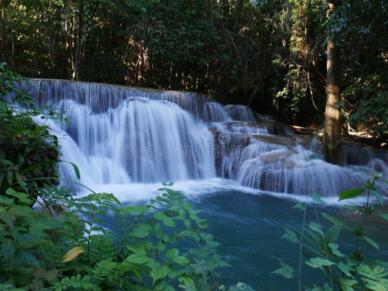 Cascata in Tailandia Natura di vista del paesaggio immagini stock libere da diritti