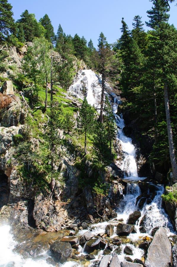 Cascata in valle di Benasque immagine stock libera da diritti