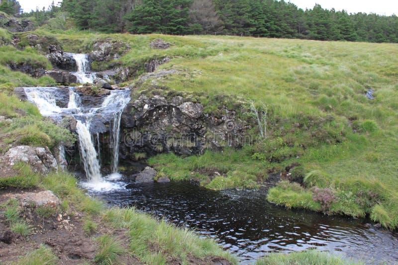 Cascate agli stagni leggiadramente, isola di Skye immagine stock