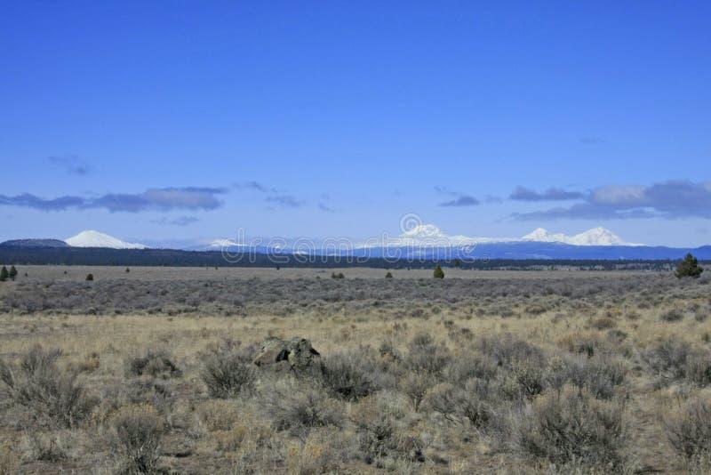 Cascate centrali dell'Oregon ed alto deserto immagini stock