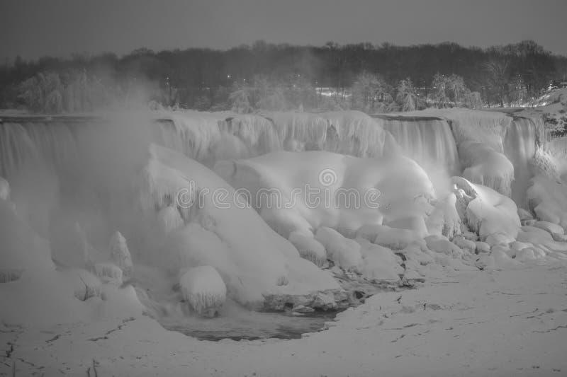 Cascate del Niagara congelato fotografia stock