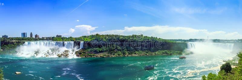 Cascate del Niagara di panorama fotografie stock