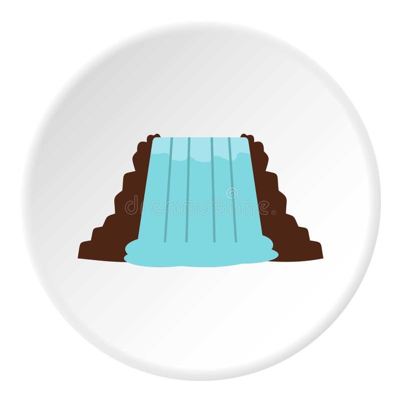 Cascate del Niagara, Ontario, cerchio dell'icona del Canada royalty illustrazione gratis