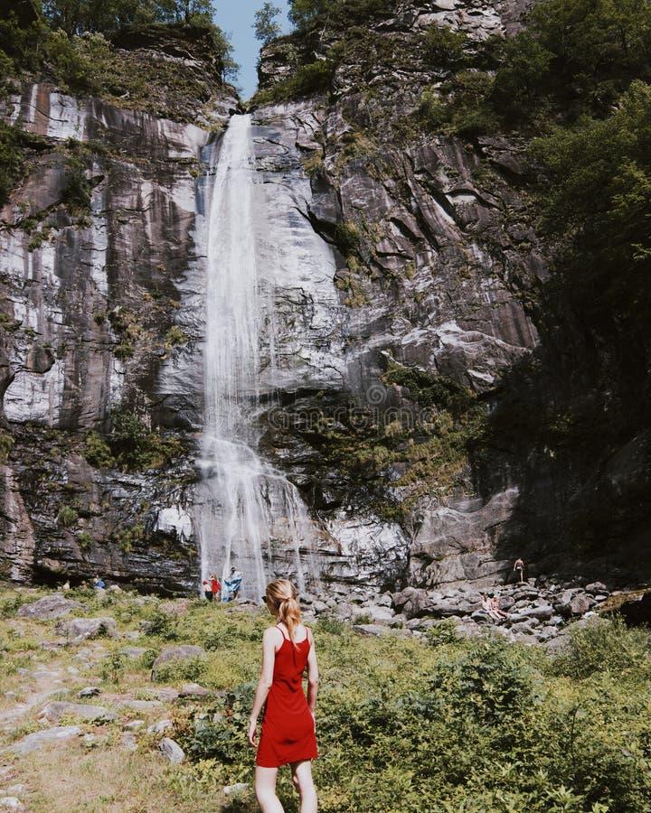 Cascate Di Acquafraggia w Włochy obraz royalty free