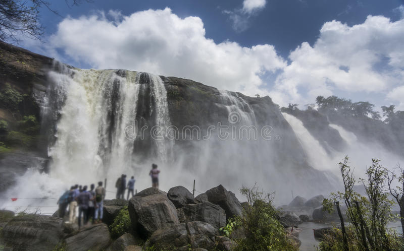Cascate di Athirappally nel Kerala, India fotografia stock