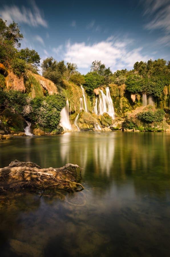 Cascate di Kravice, Bosnia-Erzegovina fotografia stock libera da diritti