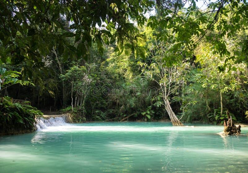 Cascate di Tat Kuang Si vicino a Luang Prabang, Laos immagini stock libere da diritti