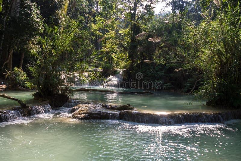Cascate di Tat Kuang Si vicino a Luang Prabang, Laos immagini stock