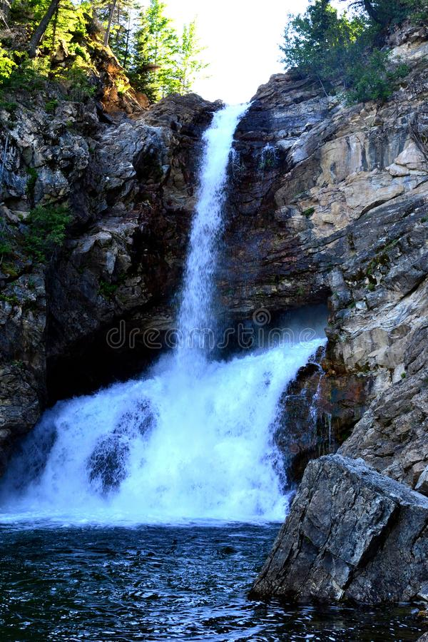 Cascate in Glacier National Park immagine stock