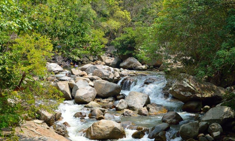 Cascate a Sungai Kanching, Rawang, Selangor, Malesia fotografia stock