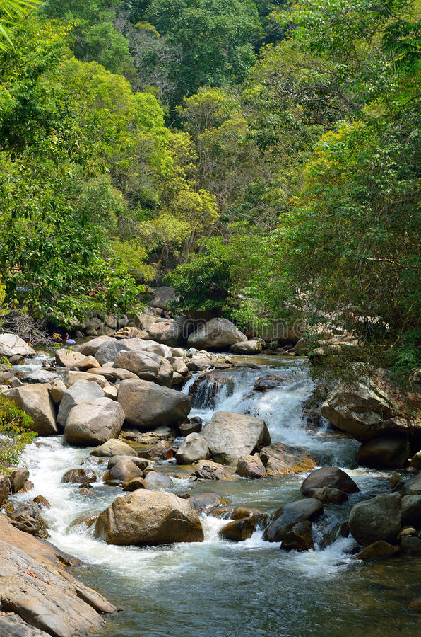 Cascate a Sungai Kanching, Rawang, Selangor, Malesia immagini stock libere da diritti