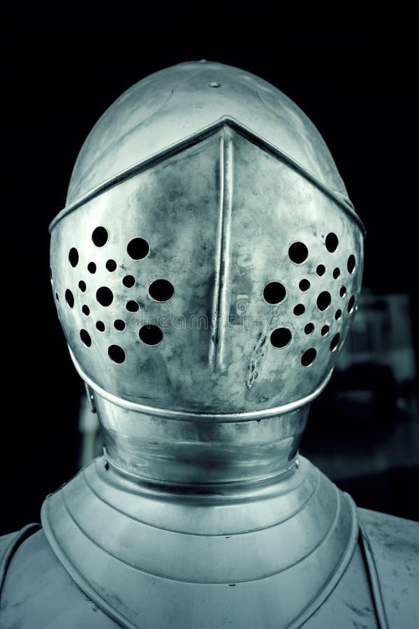 Caschi medievali d'acciaio fotografie stock libere da diritti