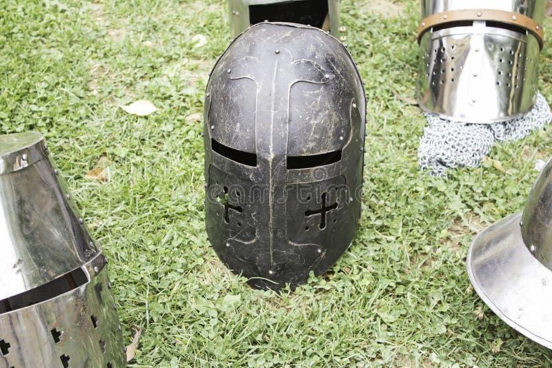 Caschi medioevali immagini stock