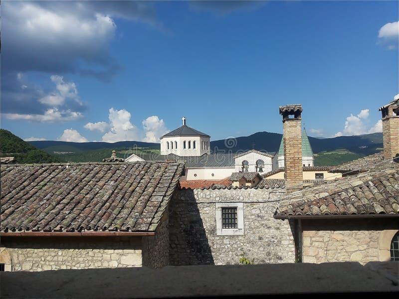 Cascia Umbria, Italien arkivfoton