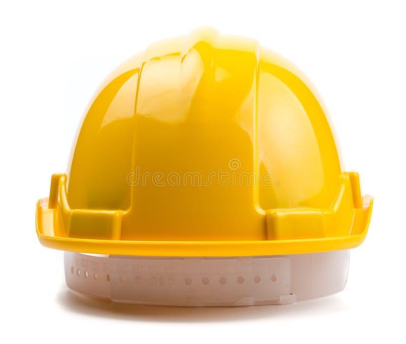 Casco amarillo de la construcción fotos de archivo libres de regalías