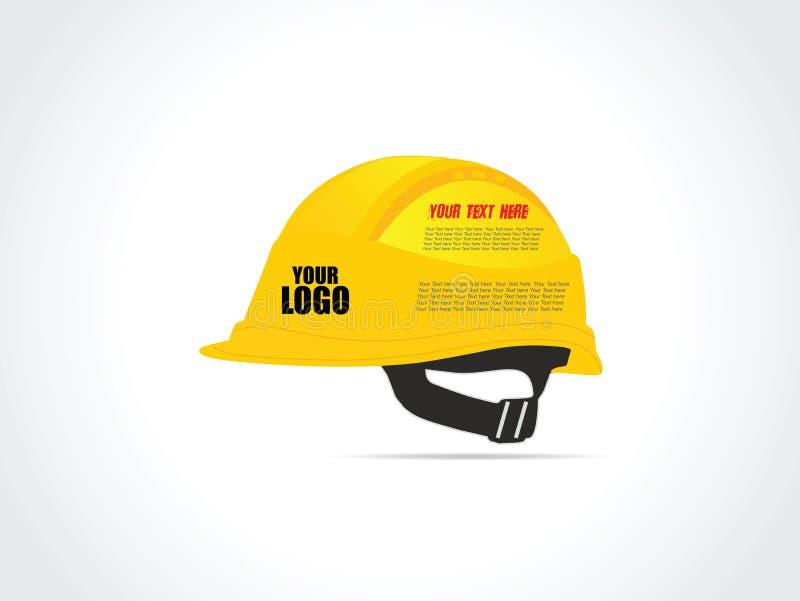 Casco amarillo de la construcción para el trabajador - ejemplo del vector imagenes de archivo