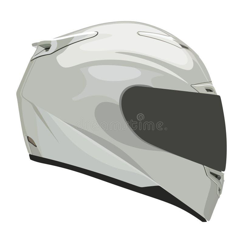 Casco bianco del motociclo royalty illustrazione gratis
