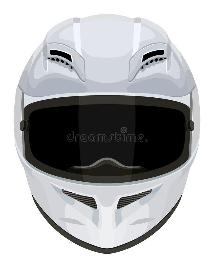 Casco bianco del motociclo illustrazione di stock