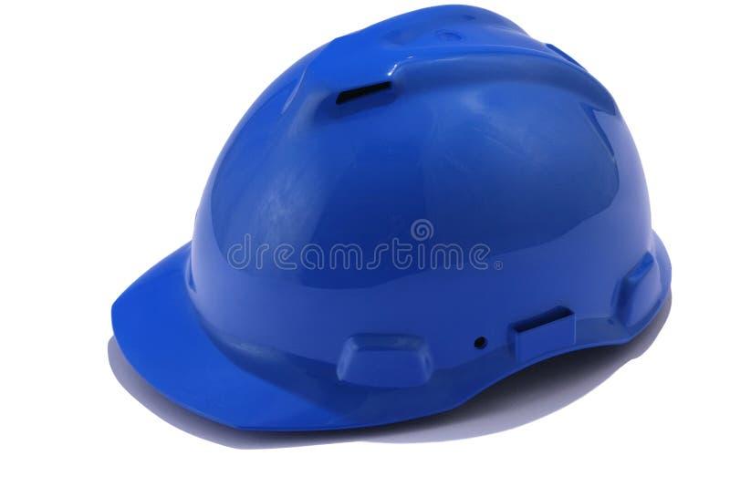 Casco blu immagine stock