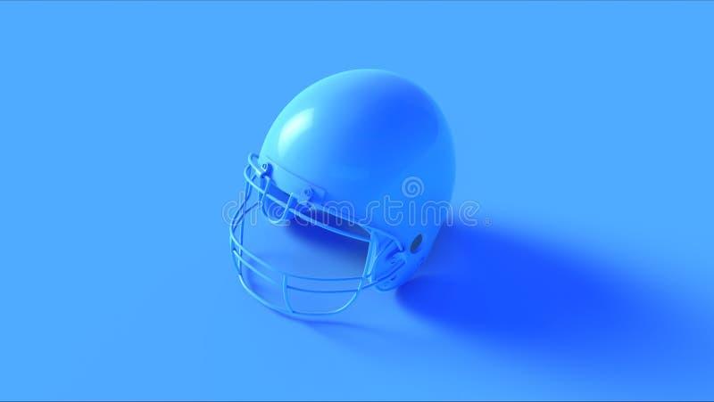 Casco blu luminoso illustrazione di stock