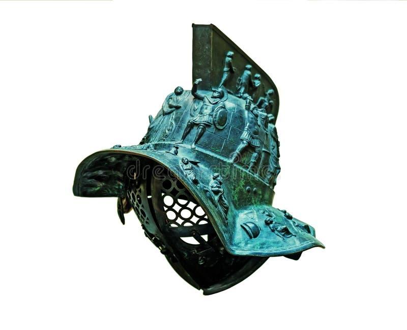 Casco bronzeo del ` s del gladiatore immagini stock libere da diritti