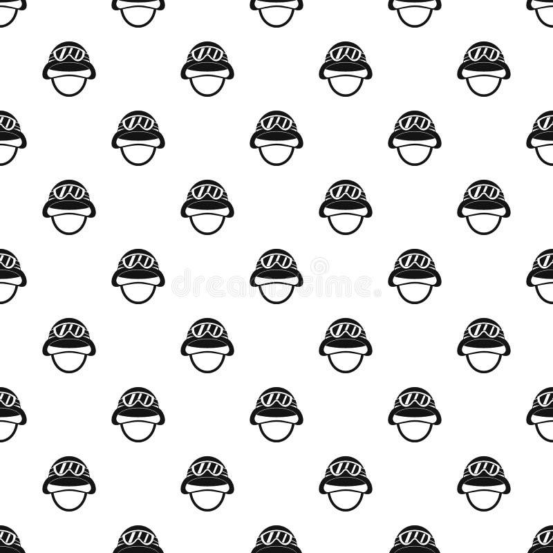 Casco con il modello degli occhiali di protezione, stile semplice illustrazione di stock