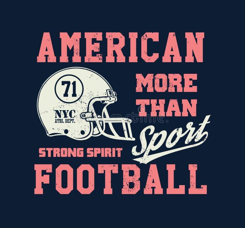 Casco de fútbol americano estilizado libre illustration