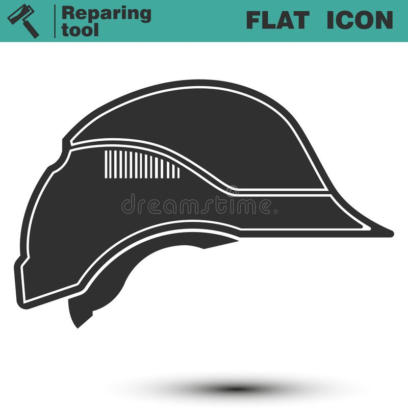 Casco de la construcción de la seguridad Ejemplo del vector del icono del casco libre illustration