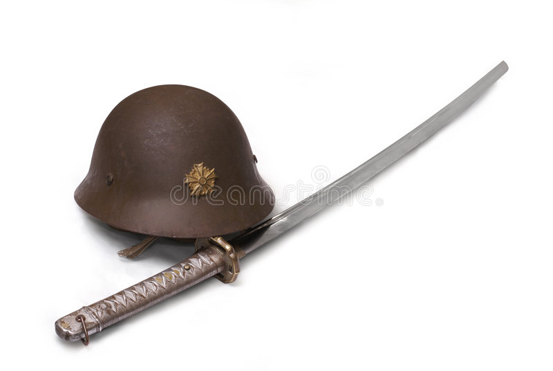 Download Casco De La Espada Y De La Batalla Del Sargento Japonés Imagen de archivo - Imagen de lámina, armas: 7285453
