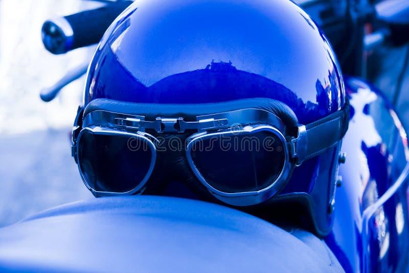 Casco de la motocicleta fotos de archivo
