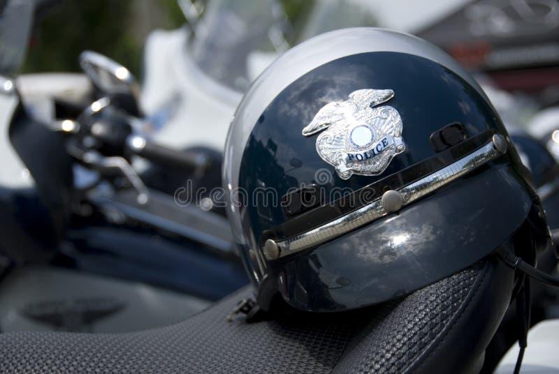 Casco de la policía fotografía de archivo
