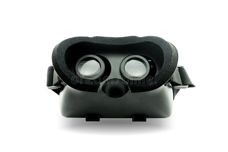 Casco de la realidad virtual aislado en el fondo blanco , Esto tiene c fotografía de archivo libre de regalías