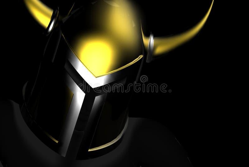 Casco de los guerreros del oro ilustración del vector