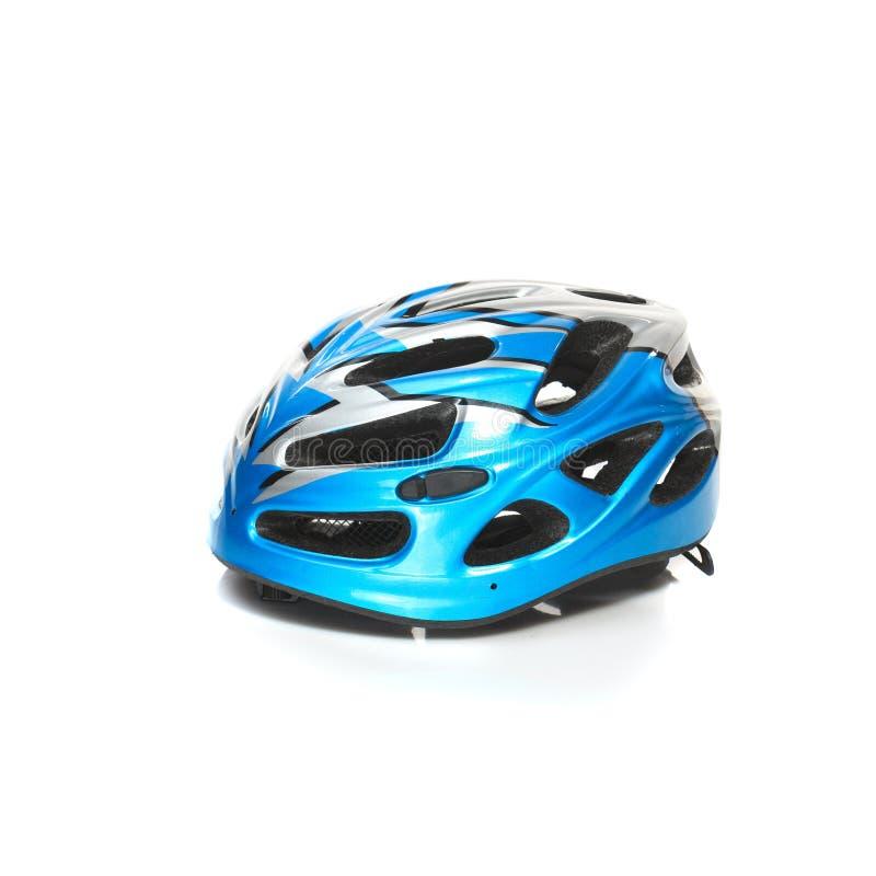 Casco de seguridad de la bici de montaña de la bicicleta aislado imagenes de archivo