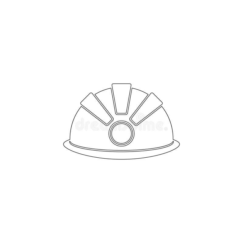 casco de seguridad, casco Icono plano del vector libre illustration
